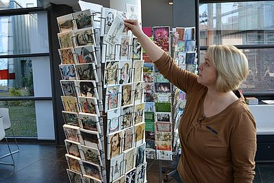 A large selection of art postcards in the museum shop. Picture: Horst-Janssen-Museum