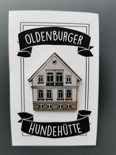 Oldenburger Hundehütten Anstecknadel © Stadtmuseum Oldenburg