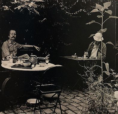 Horst Janssen with his printer Hartmut Frielinghaus. Picture: Karin Elmers