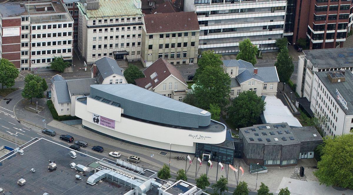 Aerial photo of the Horst-Janssen-Museum. Picture: Oldenburger Luftbildarchiv (OLAR)