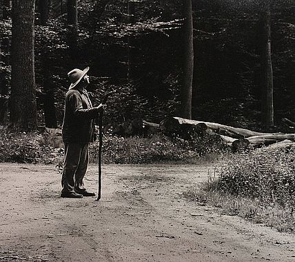 Horst Janssen in the forest. Picture: Karin Elmers
